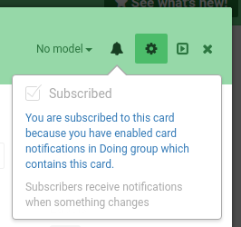 Card subscription from group