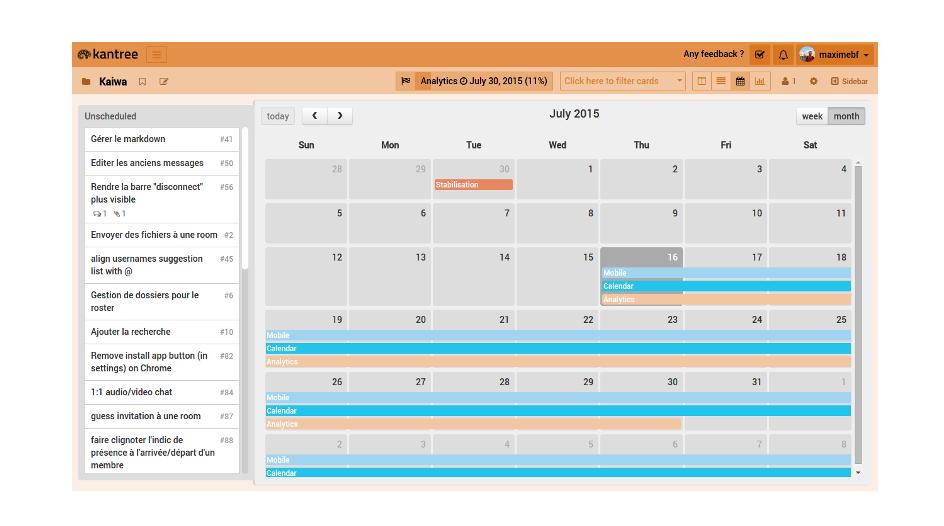 calendar kanban