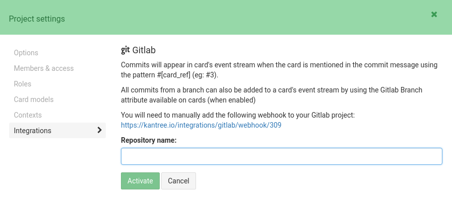 Gitlab integration